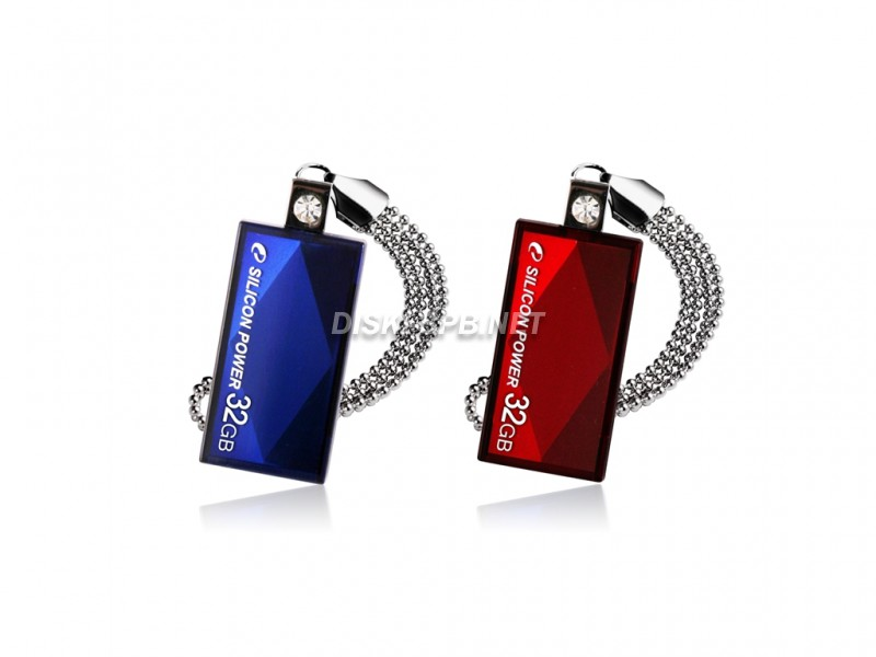 USB флэш-диск 16GB, USB 2.0, Silicon Power Touch 810, Red