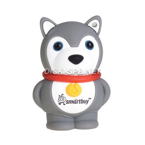 USB флэш-диск 8GB, USB 2.0, Smartbuy, Wild series Dog, grey