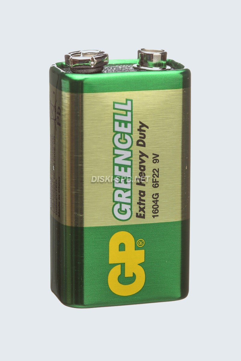 Батарейка 6F22 Greencell GP