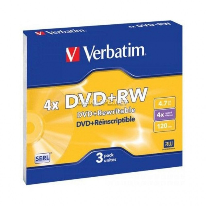 DVD+RW диск 4x 4.7 Gb Verbatim Slim